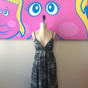 H&M Gray Black Summer Backless Maxi Dress